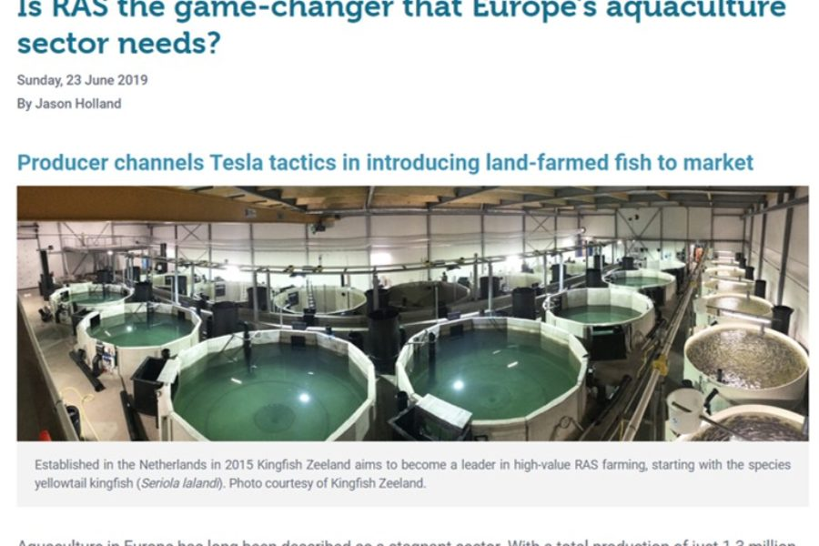 RAS aquaculture for a sustainable future